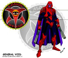 General Void: General Void is the greatest achievement of the Kalosian Empire's scientists, he is a Synthoid (synthetic Android) developed to head . Comic Character, Character Concept, Character Design, Legion Game, New Superheroes, Superhero Design, Superhero Names, Superhero Characters, 3rd Millennium