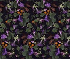 Glorious garden  fabric by vo_aka_virginiao on Spoonflower - custom fabric