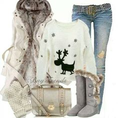 Winter outfit. Great for the holidays!