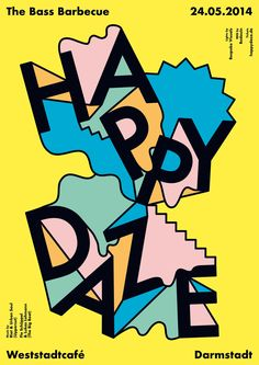 Studio Falko Ohlmer: I am very into Memphis inspired Graphic Design which is inspired by Pop Art & Was an Italian movement. I love the colourful decoration and asymmetrical shapes. Especially the typography and use of shapes and colour within this poster.