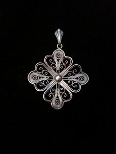 Wisiorek - srebro pr. 0,800 - filigran