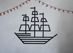 DIY Pirate Ship With Wasi Tape …but your decorations are only limited by your imagination