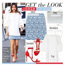 """Get The Look-Jamie Chung"" by kusja ❤ liked on Polyvore featuring Raye, GetTheLook, celebstyle and jamiechung"