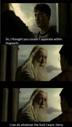 Dumbledore being Dumbledore. | The 42 Sassiest Things That Have Ever Happened