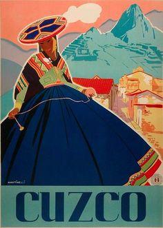 By Agostinelli, ca 1 9 4 7, Cuzco.