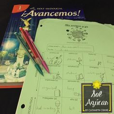 Avancemos Book 1 for First Year Spanish - So many curriculum resources by Sol Azúcar Spanish Classroom Activities, Learning Spanish For Kids, Spanish Lessons For Kids, Spanish Teaching Resources, Spanish Lesson Plans, Spanish Language Learning, Class Activities, Teaching Ideas, Middle School Spanish