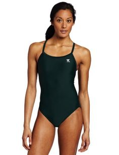 Women's Athletic Swimwear - TYR Sport Womens Solid Diamondback Swimsuit ** More info could be found at the image url. (This is an Amazon affiliate link)