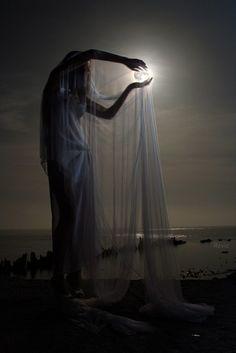 blue moon glowing - fantasy Photo
