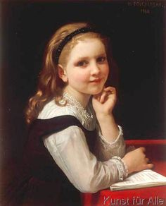William-Adolphe Bouguereau - Jeune Ecoliere