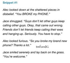 City of Heavenly Fire snippet #1