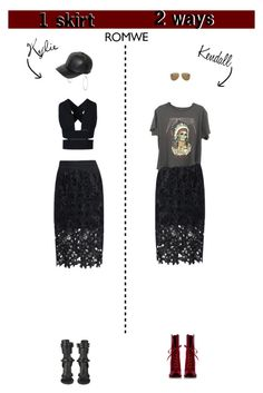 """1 skirt - 2 ways"" by georginamaybrown ❤ liked on Polyvore featuring Allurez, D&G, STELLA McCARTNEY, BOSS Black, Yves Saint Laurent, women's clothing, women's fashion, women, female and woman"
