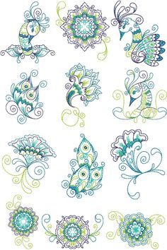 Plume Treasures Designs |  Machine Embroidery Designs By Sew Swell