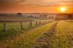 Sunrise in the Flemish Ardennes - Elst, Belgium by Bart Heirweg