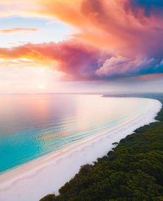 The Australian sky at sunrise / Frazer island, Australia [OC] : EarthPorn Beautiful Hotels, Beautiful Sunset, Beautiful Places, Beautiful Scenery, Wonderful Places, Stunningly Beautiful, Landscape Photography, Nature Photography, Travel Photography