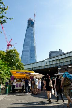 """The Shard"", already tallest building in Europe before completion, from the Southwark Market in London"