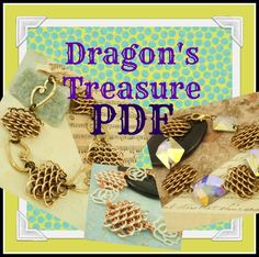 PDF Chainmail Tutorial -  Dragons Treasure  - Beginners and Intermediate  - Diy -  DELUXE Basic Instructions PLUS. $ 10.00, via Etsy.