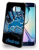 Custom NFL Detroit Lions Personalized Cell Phone Case for Samsung Galaxy S7