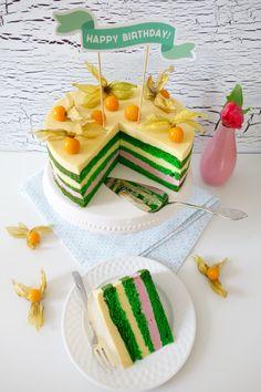 Himbeer-Mango-Torte - Die Küchenzuckerschnecke Puding Cake, Happy Birthday, Birthday Cake, Different Cakes, Mango, Delicious Desserts, Muffins, Cookies, Baking