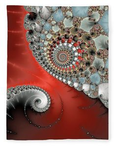 Fleece Blanket for sale, fascinating Fractal Art. Great gift for an Mathematics student or teacher! Our luxe soft blankets are warm and cozy, check out your options!