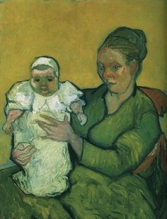 Vincent Van Gogh Madame Roulin with her baby Oil on canvas Nov -Dec 1888