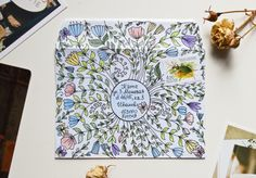 Summer Floral Garden envelope by aka Maria Galybina Envelope Art, Envelope Design, Mail Art Envelopes, Snail Mail Pen Pals, Art Postal, Mail Gifts, Pen Pal Letters, Fun Mail, Pen And Paper
