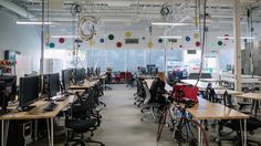 """""""google garage"""" mountain view   Inside the Google Garage, a collaborative workspace that apparently ..."""