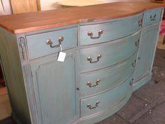 Minneapolis: Vintage Buffet/Sideboard - Annie Sloan Chalk Paint - Aubusson Blue $359 - http://furnishlyst.com/listings/1025784