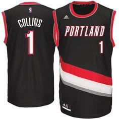 4516e73cdc5 Zach Collins Portland Trail Blazers adidas 2017 NBA Draft #1 Pick Replica  Jersey - Black