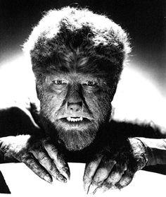 Imagen clásica del hombre lobo de Lon Chaney Jr.