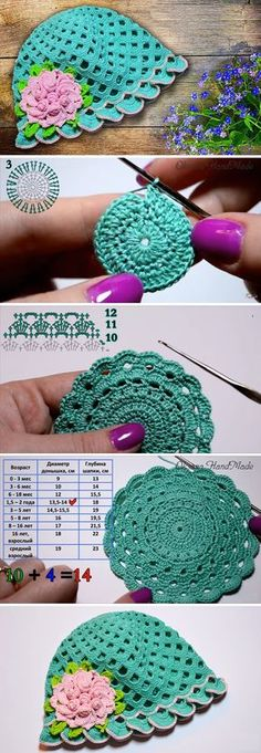Crochet Retro Hat Tutorial