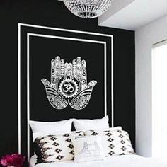Wall Decal Vinyl Sticker Decals Art Decor Design Hamsa Hand Om Lotus indian Buddha Ganesh Modern Bedroom Dorm Office Mural (r1127)
