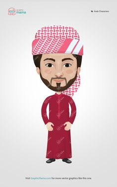 76 best arab men and women vector cartoon characters images on