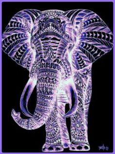 33 Ideas wall paper celular mandalas elefantes for 2019 Purple Love, All Things Purple, Shades Of Purple, Deep Purple, Purple And Black, Purple Stuff, Purple Elephant, Elephant Love, Elephant Art