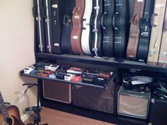 Wall mounted guitar case rack - Telecaster Guitar Forum