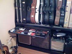 Wall mounted guitar case rack - Telecaster Guitar Forum                                                                                                                                                                                 More