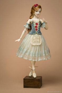 Pretty Dolls, Beautiful Dolls, Disney Princess Dolls, Homemade Dolls, Enchanted Doll, Ballerina Doll, Doll Costume, Barbie Dress, Doll Crafts