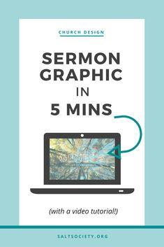 Sermon graphic in 5 minutes