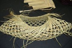 Karmen Thomson - one of her kete. Really open weave: