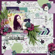 Explore by Jenni For the July blog challenge on scrapyrusdesigns.blogspot.com