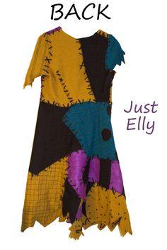 How to make a sally skellington costume sally wig and homemade nightmare before christmas costume sally back diy solutioingenieria Choice Image