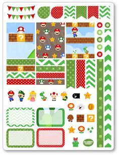 Gaming Friends Decorating Kit / Weekly Spread Planner Stickers for Erin Condren…