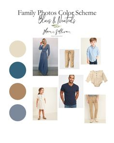 Family Photo Outfits Color Schemes - Blues & Neutrals are next up on the what to wear express! Fall Family Picture Outfits, Spring Family Pictures, Family Pictures What To Wear, Family Picture Colors, Family Portrait Outfits, Family Portraits, Colors For Family Pictures, Fall Photo Outfits, Beach Portraits