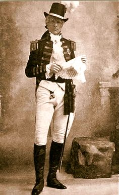 """Jones Hewson as the Earl of Newton in the original 1901 production of """"The Emerald Isle"""" at the Savoy Theatre."""