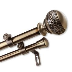 19mm Hasta Spear Finial In Antiqued Brass Curtain Accessories