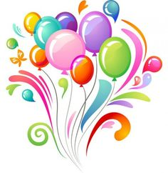 Colorful Balloons Celebration Vector Background - http://www.dawnbrushes.com/colorful-balloons-celebration-vector-background/