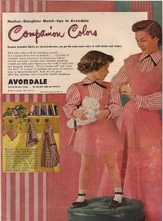 Charming Avondale's Mother-Daughter Chambrays (1949)