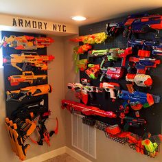 We are ready for the zombie apocalypse! Easy one day project that cost under $50!  Supplies Needed.. 3 2ftx4ft peg boards  4 1X4 strapping Mounting screws Pegs Paint Stencils Weapons;)