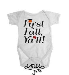First Fall Ya'll fall baby clothes baby girl clothes baby boy clothes country baby clothes