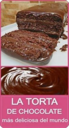 Chocolate Desserts, Torta Chocolate, Delicious Desserts, Yummy Food, Gateaux Cake, Dessert Cake Recipes, Recipe For 4, My Favorite Food, Sweet Recipes