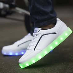 (58.99$)  Buy here - http://ainpc.worlditems.win/all/product.php?id=32788916614 - Unisex light up led luminous shoes Unisex color glowing casual fashion new simulation sole charge for Adult adults neon basket
